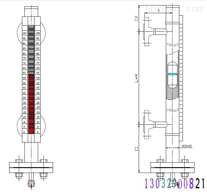 安徽磁翻柱液位计的时候我们往往注意不到细节,日在使用过程出现损坏